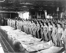US Navy WW2 Photo, WWII Burial at Sea USS Intrepid World War Two US Navy / 7046