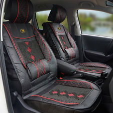 Universal PU Car Front Seat Cover Mat Head Waist Protector Back Support Cushion