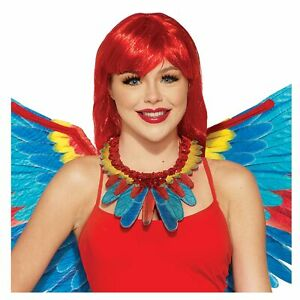 Adult Parrot Macaw Costume Collar Rio Carnivale Halloween Costume Mens Womens