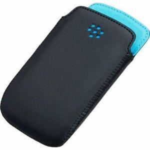 Blackberry Pocket Case for Curve 9350 9360 9370 Black Sky Blue ACC-43296-201