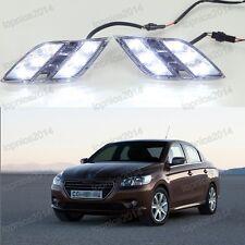 2X LED Daytime Running Light DRL Car Fog Lamp Day Lights for Peugeot 301