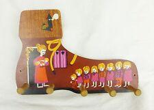 Vintage mélamine 5 crochet chaussure clef Torchon Support cintre Cuisine Plateau