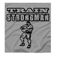 Men's Strongman Crossfit Training Strength Workout Grey T-Shirt