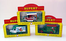 3 x LLEDO COLLECTABLE DIE-CAST MODEL VEHICLES  from THE RUPERT COLLECTION 1993