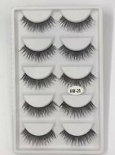 5 Pairs High Quality Eyelashes False Lashes Tray Looks Natural New