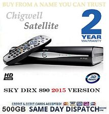 Sky Box DRX890 500GB Plus HD Brandneu Fernbedienung 3 Monate Alt 2 Jahr Garantie