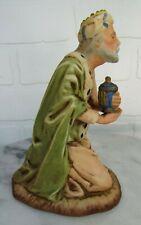 Vintage Bisque Porcelain Roman Nativity Wiseman Gaspar Christmas Beautiful!
