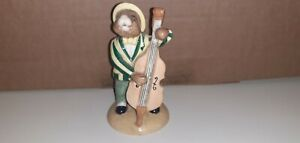 """LTD ED(1513/2500)DOULTON BUNNYKINS(JAZZ BAND)""""DOUBLE BASS""""BROWN STAMP/1ST/MINT"""