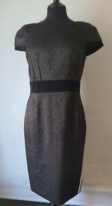 Black Bronze Mix Shift wiggle Dress NWT Per Una Dress Size 12