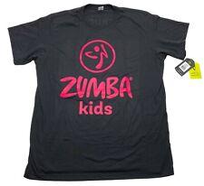 NWT Zumba Kids Instructor Bold Black Short Sleeve Athletic T-Shirt - Mens XL/XXL