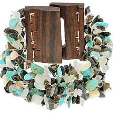 Bracelet Sold Out $150 Turquoise Wooden Buckle Stretch
