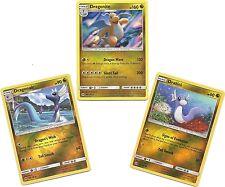 DRAGONITE (Holo) DRAGONAIR (RH) DRATINI (RH-3 EVO Pokemon Cards-SUN & MOON-MINT