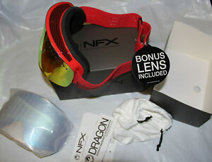 Dragon Alliance NFX Ski Goggle Stone red Yell/Red Ionized +bonus Blue steel NEW