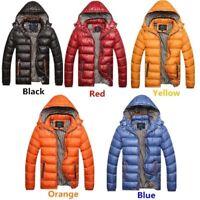 Winter Men's Hooded Down Jacket Outdoor Warm Coat Waterproof Windproof Outwear