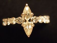 14KT White Gold 1.96 ctw Marquise Cut Diamond Ring/wAIG Report