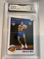 2019-20 NBA Hoops Tribute RJ Barrett #298 Knicks Rookie Rc GMA Mint 9