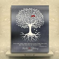 (LT-1216) Personalized 10th Anniversary Gift Minimalist Family Tree of Life W...