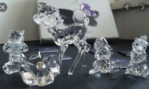 """Swarovski Bambi  Flower  Thumper And Owl """"Bambi and Friends!"""""""