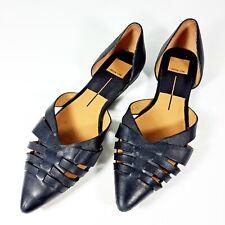 Dolce Vita Parkland Womens Shoes Sz 8M Black  Leather Point Toe D'orsay Flat