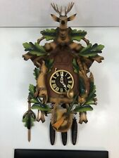 Vintage Cuckoo Coo Coo Clock Germany Made In Schwarzwald Hunter Themed 2162-63
