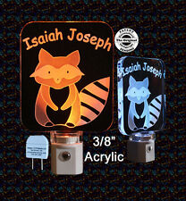 Personalized Raccoon Baby LED Night Light, Kids Lamp