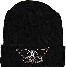 Aerosmith Wool Hat Black Beanie Knit Rock Band Steven Tyler Pump Get a Grip