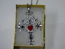 USA Seller - Vampire Diaries Gothic Fantasy Red Cross Necklace