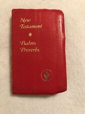 1976 Dark Red Gideon New Testament  GOOD condition  See pics and listing please.
