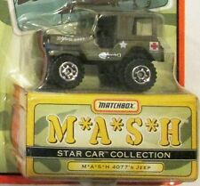 4077's JEEP From M*A*S*H ~ 1997 Matchbox Star Car ~ VERY WORN CARD ~ MASH