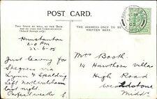 Mr & Mrs A C Booth. 14 Hawthorne Villas, Wealstone, London 1905    (QR1589)