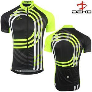 Cycling Jersey Mens Short Sleeve Summer Bicycle Full Zipper MTB Racing Top Black