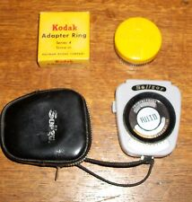 VTG PHOTOGRAPHY KODAK PRINZ FILM CASE LEUDI GERMAN CINE METER MOVIE PHOTO LENS
