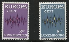 Luxembourg Scott #512-13, Singles 1972 Complete Set FVF MNH