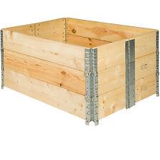 3x Hochbeet-Rahmen faltbar 120x80x19cm Gartenbeet Holzrahmen Pflanzbeet Frühbeet