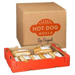 HOT DOG WORLD - Jumbo Hot Dog Brötchen 128 x 80g, vorgeschnitten