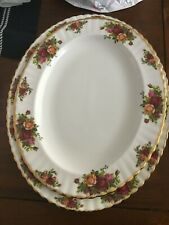 ROYAL ALBERT OLD COUNTRY ROSES  OVAL SERVING PLATTER DISH