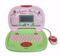 WinFun Strawberry Shortcake Sweet Berry Bilingual Laptop for Ages 3+ BRAND NEW
