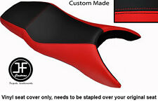 RED AND BLACK VINYL CUSTOM FITS HONDA CBR 600 F 99-08 F DUAL SEAT COVER ONLY