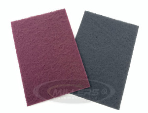 Starchem Scotchbrite Abrasive Finishing Pad 1 X Red 1 X Grey Very & Ultra Fine