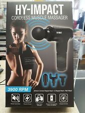 Hy-Impact Muscle Massager◉AS SEEN ON TV◉Cordless◉3900 RPM◉Deep Tissue◉Rechargeab