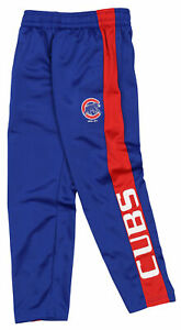 Outerstuff MLB Youth (8-20) Chicago Cubs Side Stripe Slim Fit Performance Pants