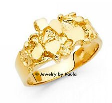 Men's 14k yellow Big Gold Nugget Ring size 10