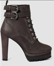 bnwb Allsaints BALFOUR heeled platform ankle boots.brown.uk 8/41.£248