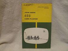 Vintage John Deere Operator's Manual 490 Corn Planter