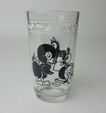 "Kraft Kiddie Kup Swanky Swig 1956 Black Foal Duck 3-3/4"" Juice Glass Cup"