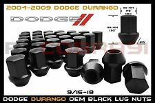 20 Pc Dodge Durango Factory Style Black 22mm Hex Lug Nuts 9/16-18 Thread Pitch