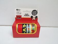 Disney Mickey Mouse & Friends Tape Works 4 ROLLS WASHI CRAFT TAPE -  NEW IN BOX