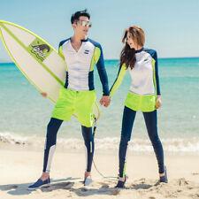 Long Sleeve Rash Guard Surfing Diving Scuba Rash Vest Shirt+ Pants Set Swimsuit