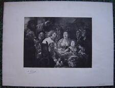 Grande estampe The King Drinks (Epiphaniasfeier) d'après Jacob Jordaens