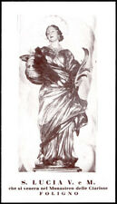 """santino-holy card""""S.LUCIA V.M.-FOLIGNO"""